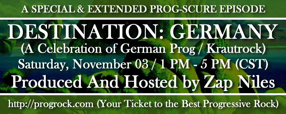 Prog-Scure Special #3: Destination Germany