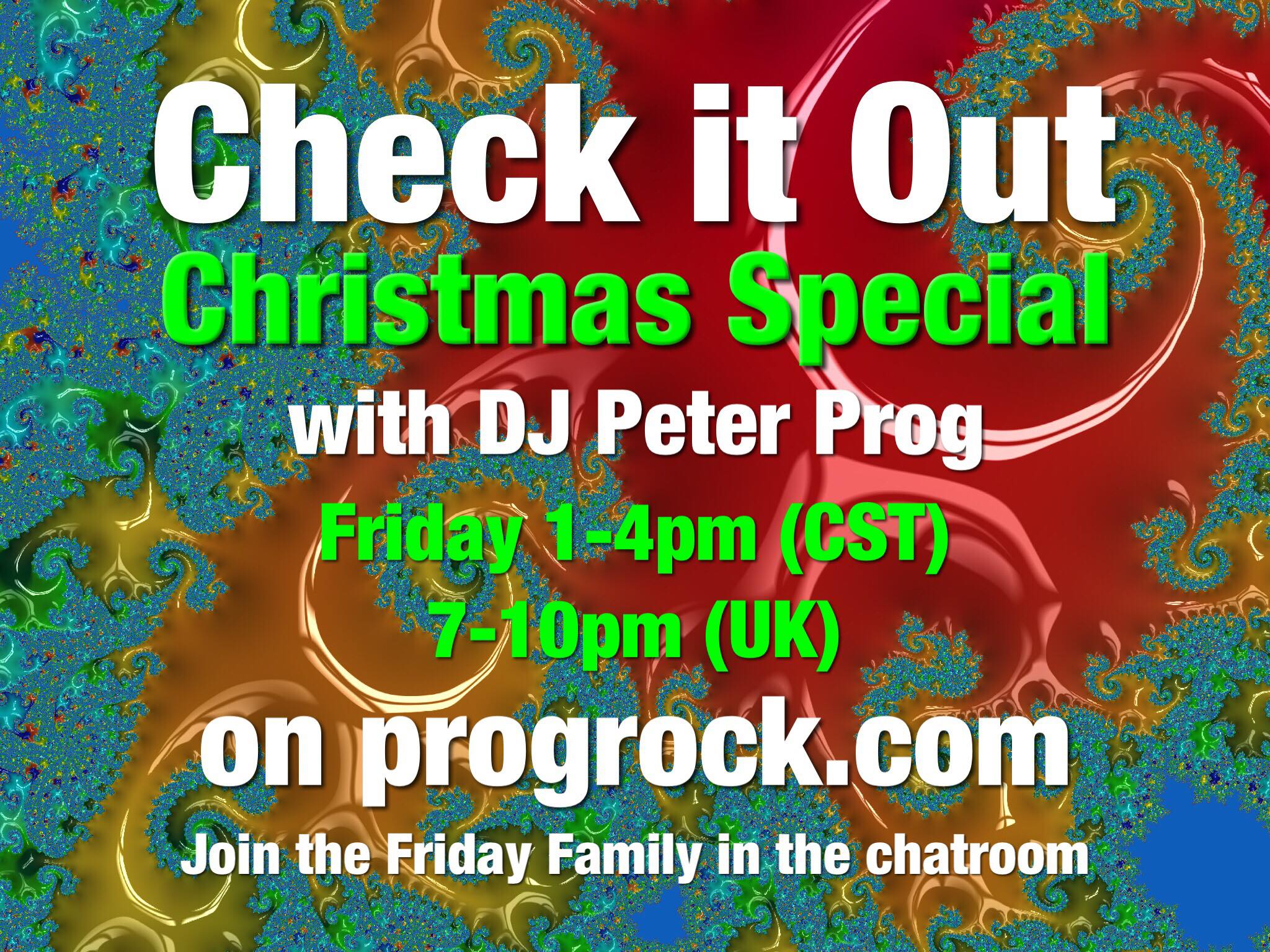 Check It Out hosted by DJ Peter Prog Friday 18 December 2020